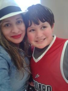 Elda with her son Tony